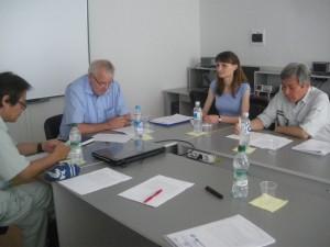 モルドバ工科大学へのインタビュー調査の様子